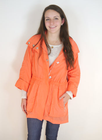 Anorak Jacket in Coral