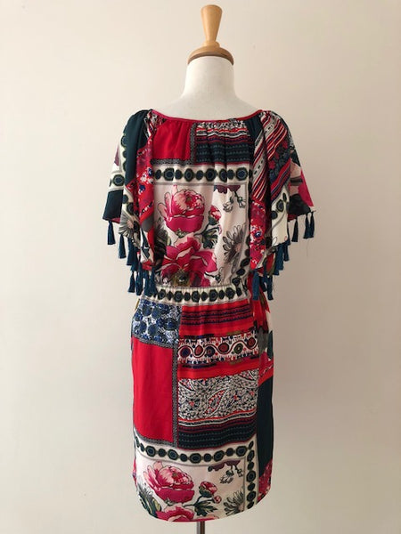 Anthropologie Vanessa Virginia Persian Rose Dress, size S