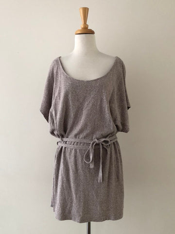 Popomomo Grey Double Wrap Tunic Dress, size S/M