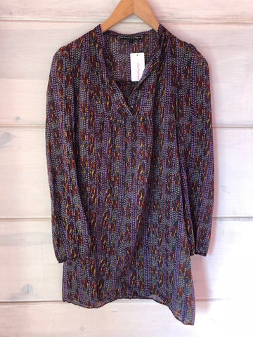 What Comes Around Goes Around Print Tunic, size S