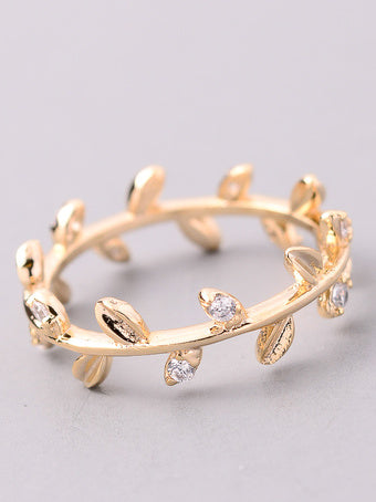 Classic Jewel Leaf Ring