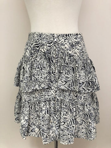 Reiss Silk Tiered Skirt, size 2