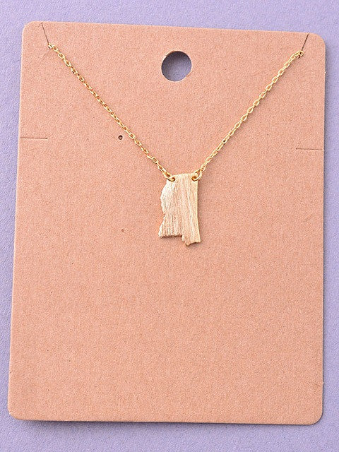 State Necklace - Mississippi