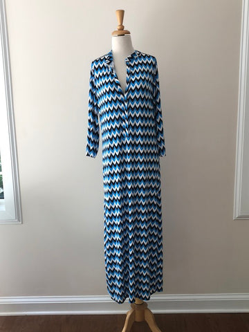 T-Bags Blue Print Maxi Tunic w/ Tags, sizes S and M