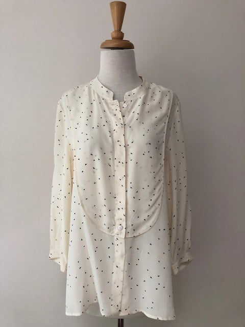 Tibi Silk Bird Print Blouse, size 12