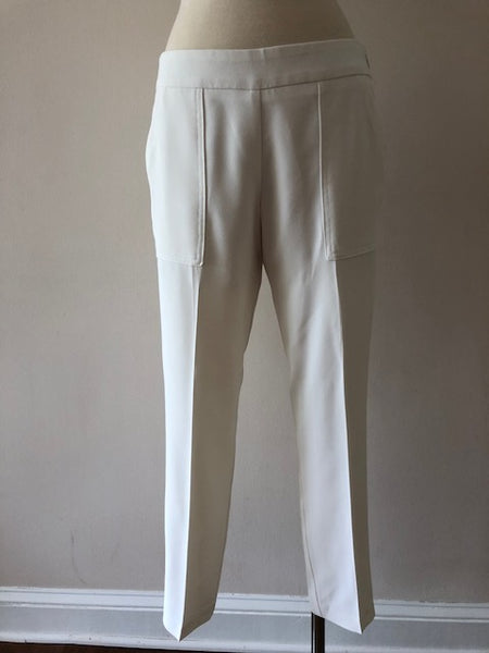 Trina Turk White Straight Leg Pants, size 2
