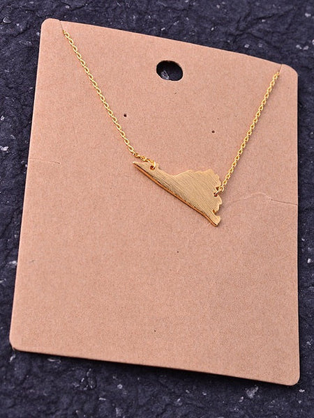 State Necklace - Virginia