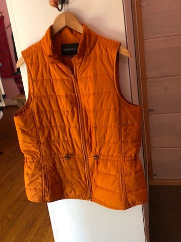 Lafayette 148 Orange Quilted Vest