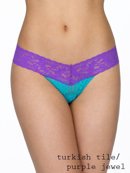 Low Rise Thong Color Play