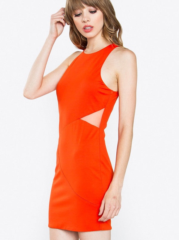 Orange Pop Bodycon Dress