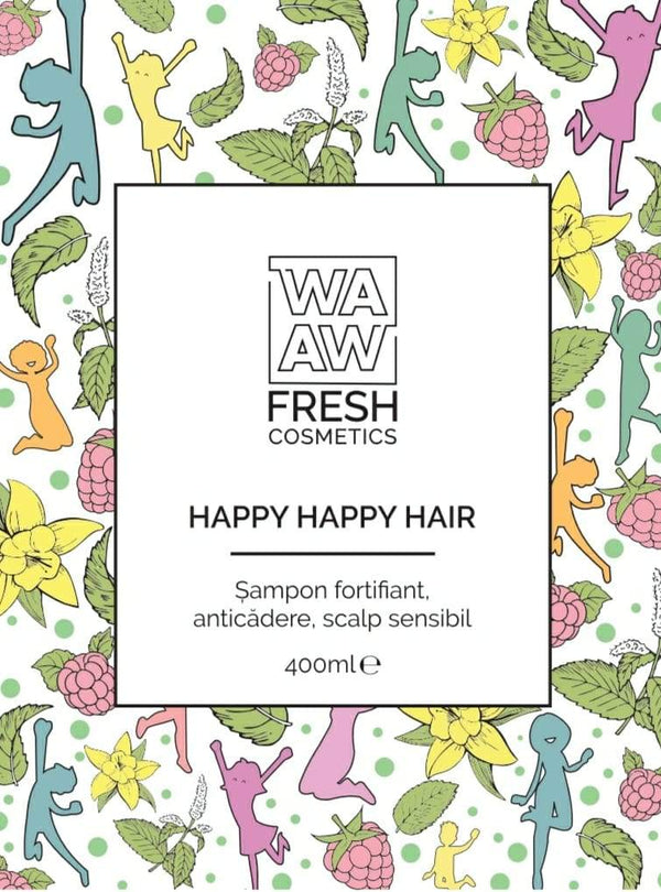 Șampon fortifiant, anticădere, scalp sensibil Happy Happy Hair
