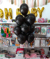 "10"" Metallic Latex Helium Inflated Balloons Black Bunch - Funzoop The Party Shop"