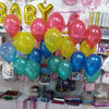 "10"" Helium Inflated Metallic Latex Balloons - Funzoop"