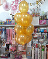 "10"" Metallic Latex Helium Inflated Balloons Golden Bunch - Funzoop The Party Shop"