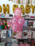 "10"" Metallic Latex Helium Inflated Balloons Pink Bunch - Funzoop The Party Shop"