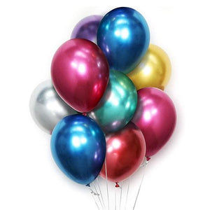 "10"" Chrome Premium Latex Balloons - Funzoop"