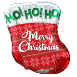 "18"" Christmas Stocking Foil Balloon [Helium Inflated]"