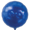 Round Shaped Solid Color Foil Balloons (Blue) - Funzoop