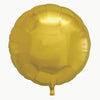 Round Shaped Solid Color Foil Balloons (Golden) - Funzoop