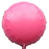 Round Shaped Solid Color Foil Balloons (Pink) - Funzoop