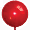 Round Shaped Solid Color Foil Balloons (Red) - Funzoop