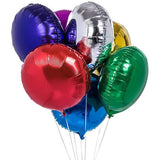 Round Shaped Solid Color Foil Balloons Bunch - Funzoop