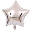 "18"" Star Shape Solid Color Foil Balloon (Silver) - Funzoop"