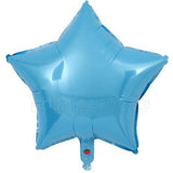 "18"" Star Shape Solid Color Foil Balloon (Blue) - Funzoop"