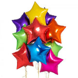 "18"" Star Shape Solid Color Foil Balloon Bunch - Funzoop"