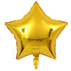 "18"" Star Shape Solid Color Foil Balloon (Golden) - Funzoop"