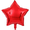 "18"" Star Shape Solid Color Foil Balloon (Red) - Funzoop"