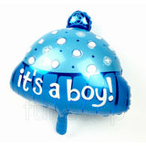 "18"" Baby Cap Shaped Foil Balloon Boy - Funzoop"