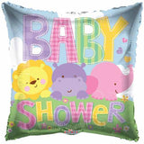 "18"" Baby Shower Square Foil Balloon - Funzoop"
