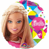 "18"" Barbie Sparkle Happy Birthday Foil Balloon - Funzoop"