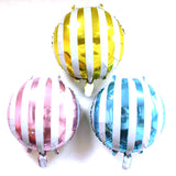 "18"" Candy Striped Foil Balloon Together - Funzoop"