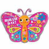 "18"" Baby Butterfly Foil Balloon - Funzoop"
