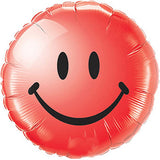 "18"" Smiley Face Foil Balloons (Golden/ Silver/ Red/ Blue/ Pink) - with Helium Inflated / Uninflated options"