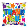 "18"" Thank You Bunch Of Stars and Circles Foil Balloon - Funzoop"