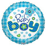 "18"" Buttons New Baby Boy Arrival Foil Balloon - Funzoop"