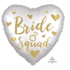 "18"" BRIDE SQUAD Heart Shaped Foil Balloon (Helium Inflated)"