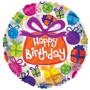 Gifts Theme Happy Birthday Foil Balloon - Funzoop