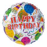 Party Celebrations Theme Happy Birthday Foil Balloon - Funzoop