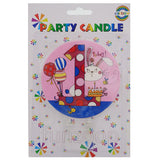 1st Birthday Cake Candle Pink - Funzoop