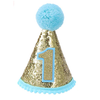 Infant Baby Shiny 1st Birthday Cone Hat - Boy