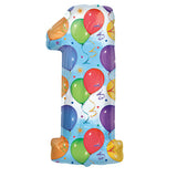 "35"" 1st Birthday Colorful Foil Balloon - Funzoop"