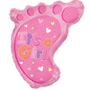 "22"" Baby Foot Shaped Foil Balloon for New Born Girl Arrival - Funzoop"