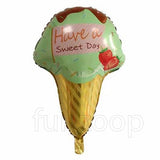 "25"" Ice Cream Cone Shaped Foil Balloon Green - Funzoop"