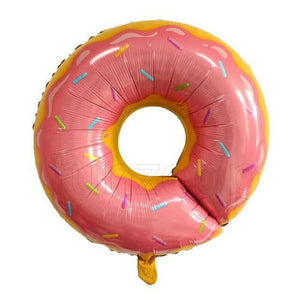 "26"" Donut Shaped Foil Balloon Pink - Funzoop"