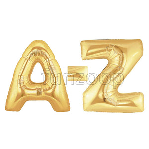 "40"" Large Foil Alphabet Balloons- Golden - A to Z"