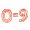 "40"" Large Foil Number Balloons- Rose Gold - Funzoop"